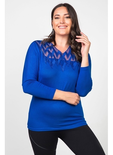 Womenice Bluz Lacivert